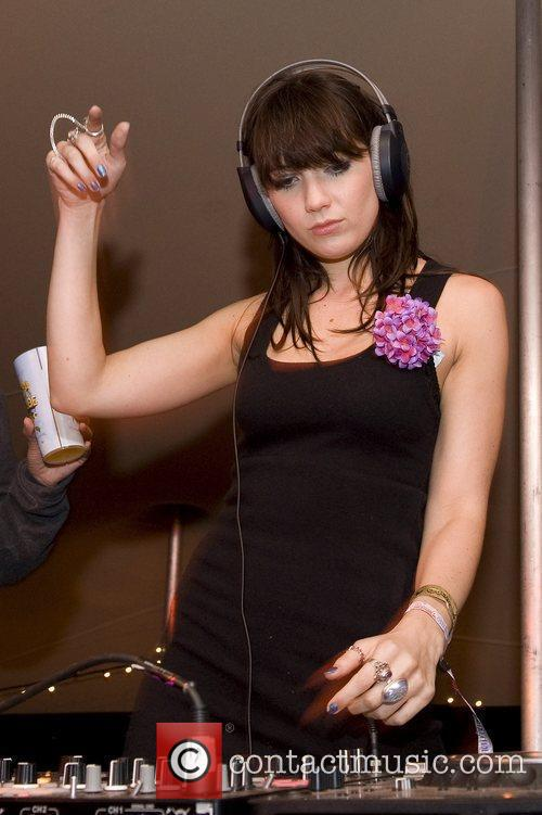 Daisy Lowe DJ's in the Sunday Times Style...