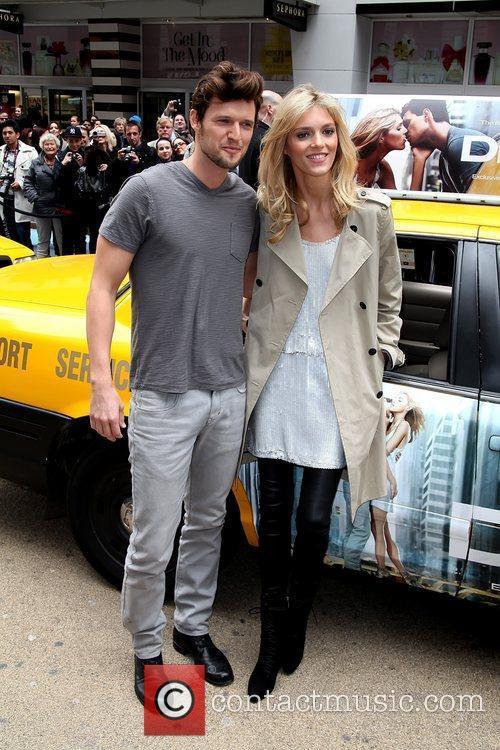 Anja Rubik and Sasha Knezevic  DKNY models...