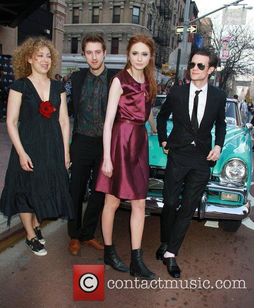 Alex Kingston, Karen Gillan and Matt Smith 2