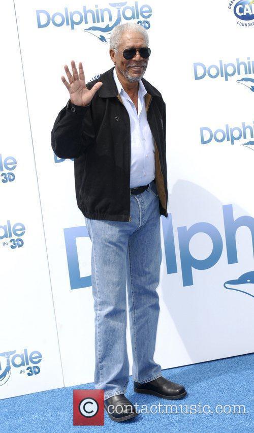 Morgan Freeman The Los Angeles premiere of 'Dolphin...