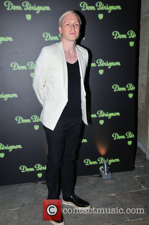 At the launch of Dom Perignon's Luminous Label...