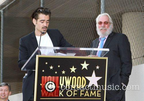 Colin Farrell and Donald Sutherland Donald Sutherland receives...