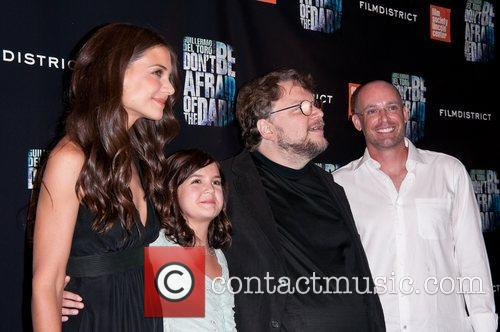 Katie Holmes, Bailee Madison and Guillermo Del Toro 1