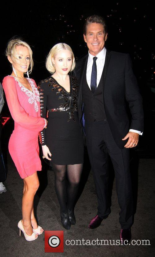 David Hasselhoff with his daughter and girlfriend Hayley...