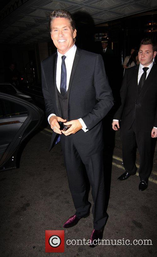 David Hasselhoff arrives at The Dorchester hotel after...