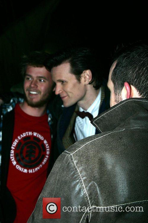 Matt Smith on the film set of 'Dr...