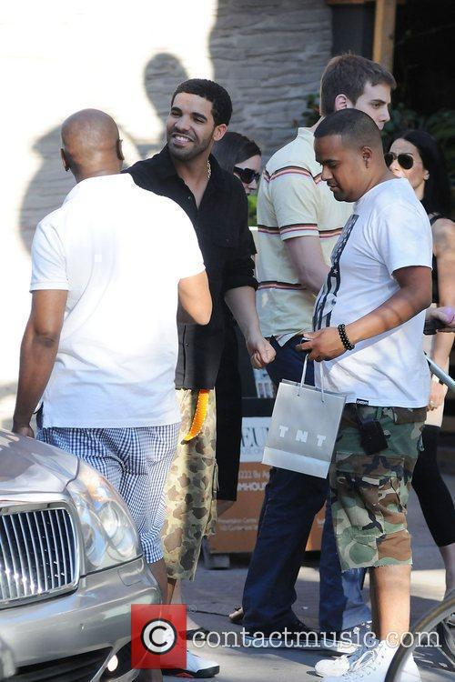Rapper Drake is seen going to dinner in...
