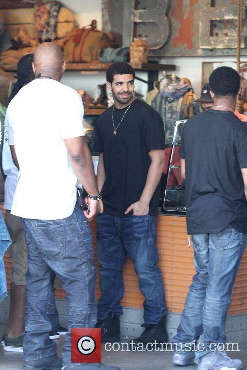 Rapper Drake is seen shopping with friends in...