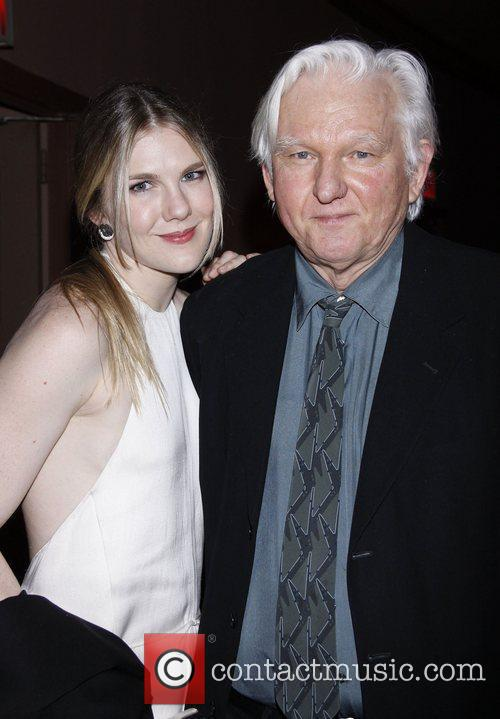 Lily Rabe and her dad David Rabe 2011...