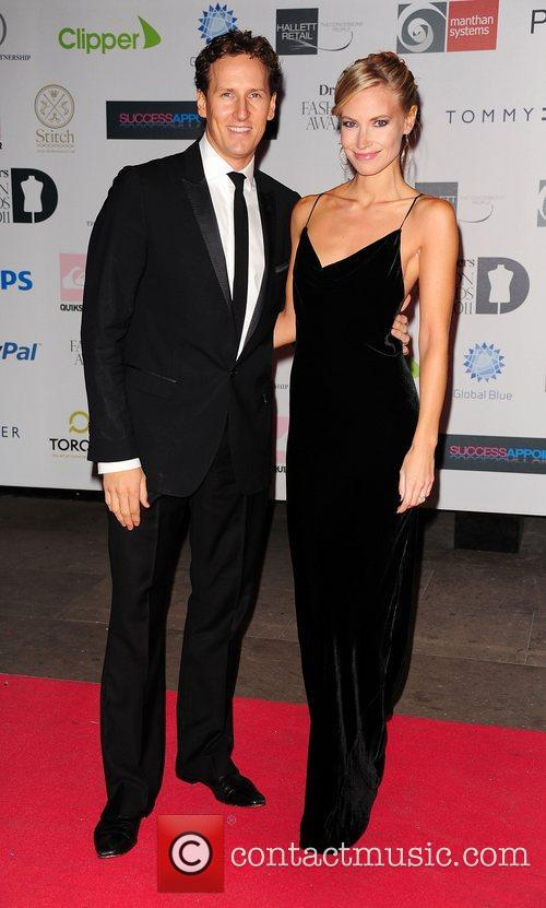 Brendon Cole and Zoe Hobbs attending the Drapers...