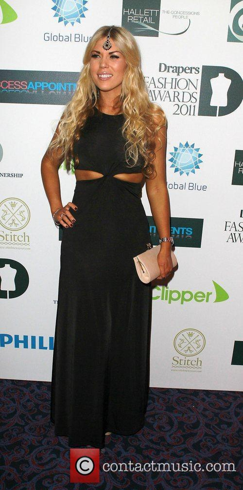 Frankie Essex,  attending the Drapers Fashion Awards...