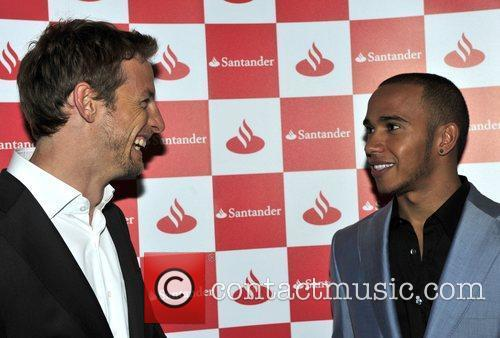 Jenson Button and Lewis Hamilton at the 'Driven...