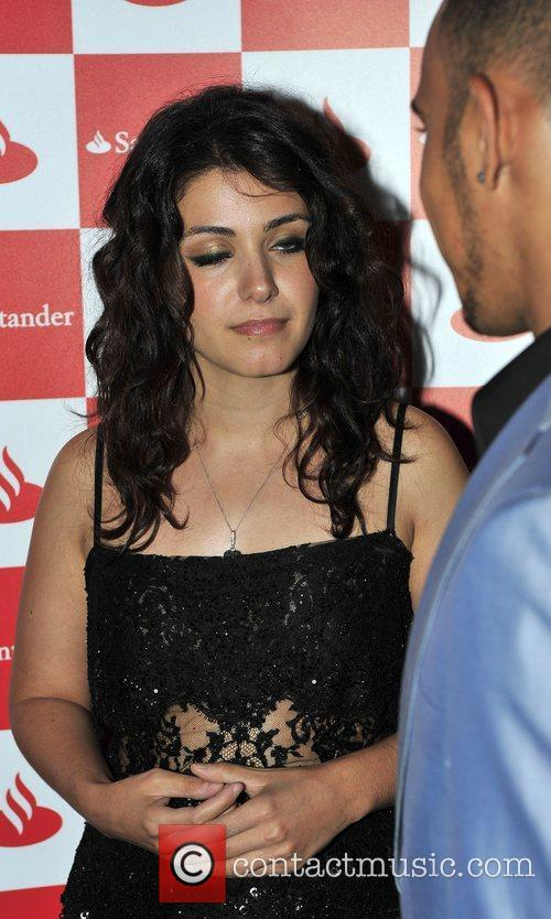 Katie Melua and Lewis Hamilton at the 'Driven...
