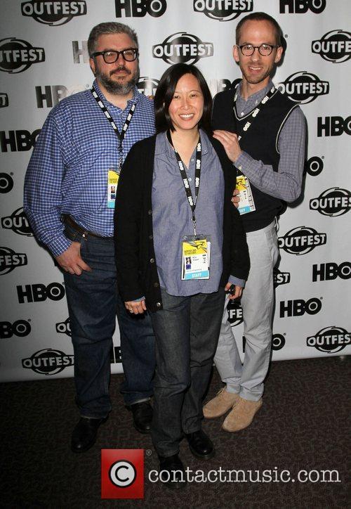 Alonso Duralde, Kim Yutani, Bryan Stamp 2011 Outfest...