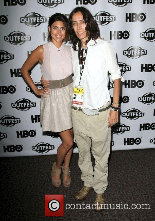 Jamie-Lynn Sigler (L) and Voula Duval 2011 Outfest...