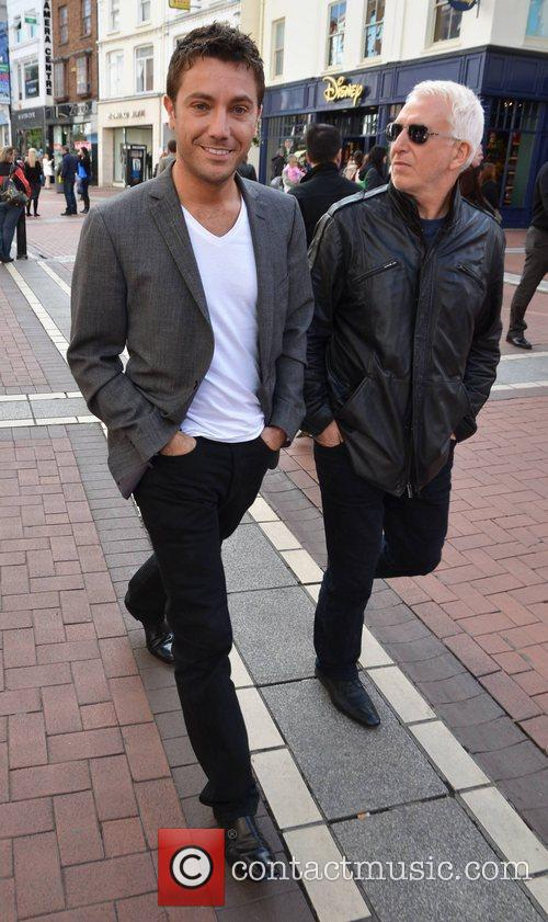 Gino D'Acampo Celebrities out and about in Dublin...
