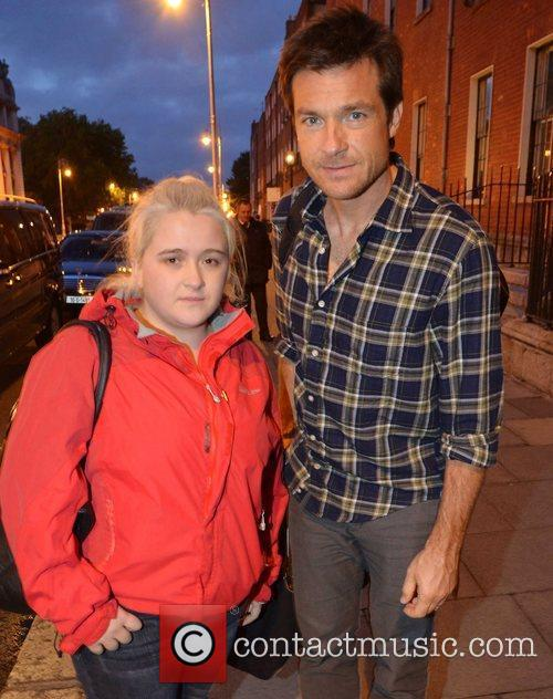 Jason Bateman and a fan Celebrities out and...