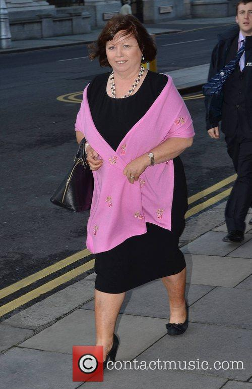 Mary Harney Celebrities out and about in Dublin...