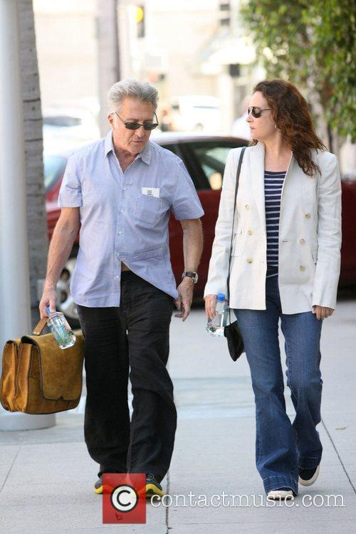 Dustin Hoffman and Lisa Gottsegen out and about...