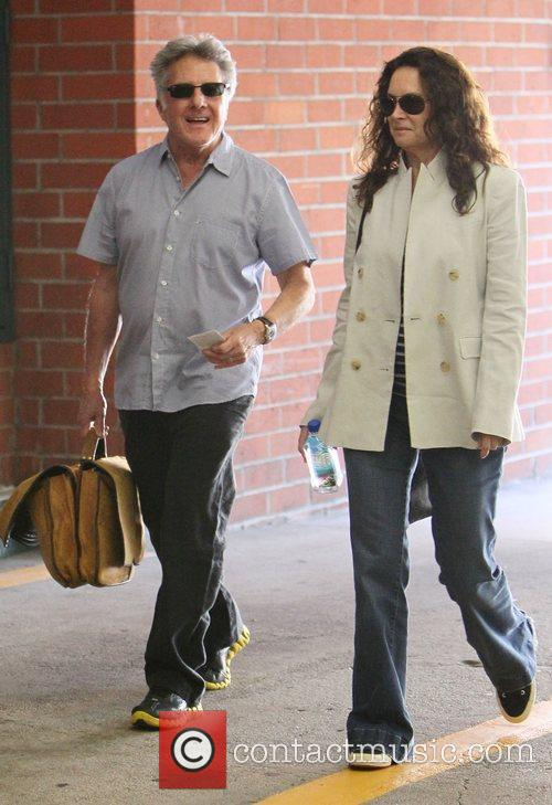 Dustin Hoffman and Lisa Gottsegen  leaving a...