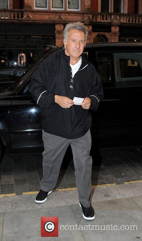 Arriving at Scott's restaurant in Mayfair for dinner