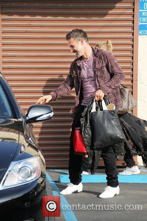David Arquette 'Dancing With The Stars' celebrities outside...