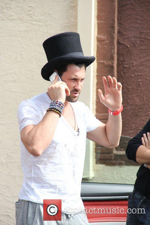 Maksim Chmerkovskiy 'Dancing With The Stars' celebrities outside...