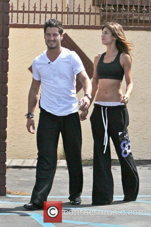 Val Chmerkovskiy and Elisabetta Canalis 'Dancing with the...