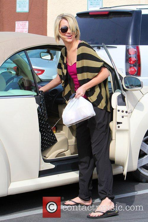 Chelsea Kane Celebrities leaving a dance studio after...