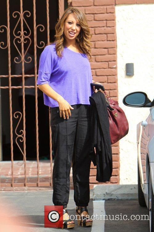 Cheryl Burke Celebrities leaving a dance studio after...