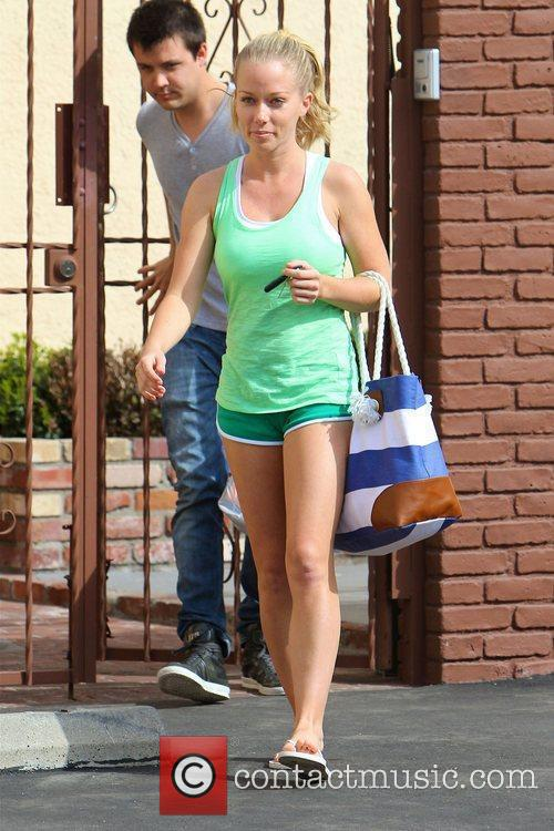 Kendra Wilkinson Celebrities leaving a dance studio after...