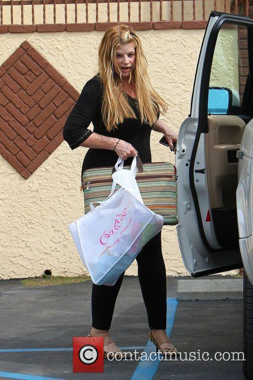 Kirstie Alley Celebrities leaving a dance studio after...