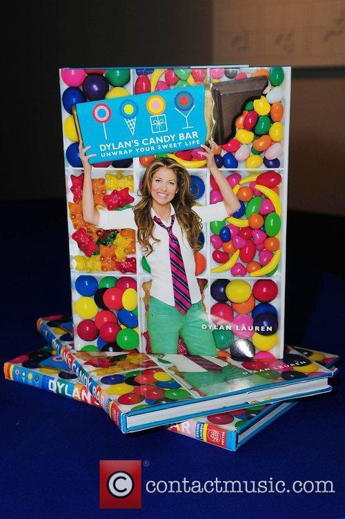 Dylan Lauren greets fans and signs copies of...