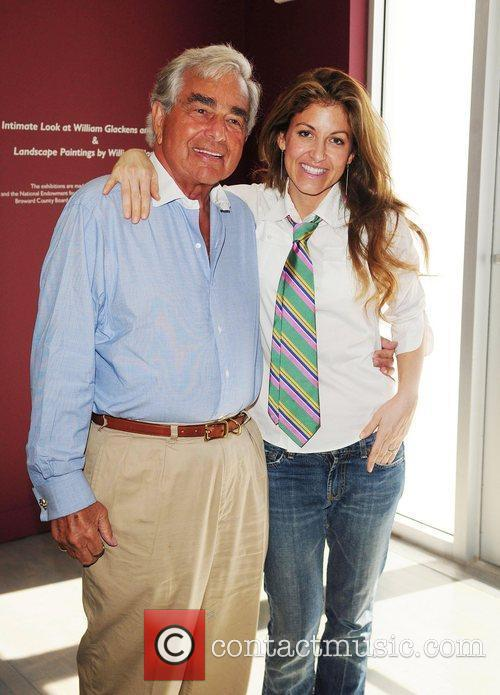Dylan Lauren and her father Leonard, greet fans...