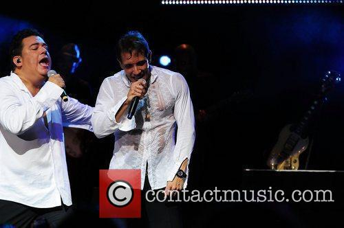 Ray Reyes and Rene Farrait performs live at...