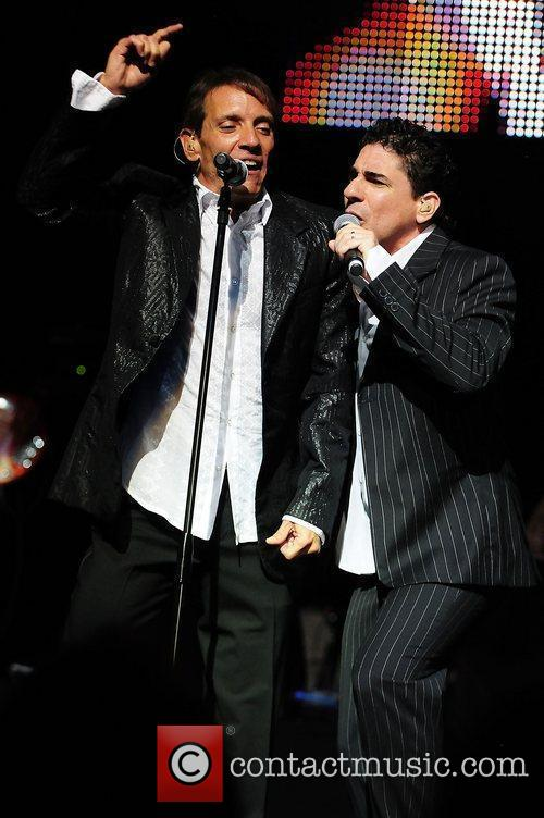 Rene Farrait and Ricky Melendez performs live at...