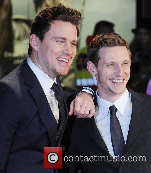 Channing Tatum and Jamie Bell at the premiere...