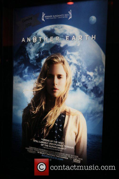 Another Earth, Poster,  at the premiere of...