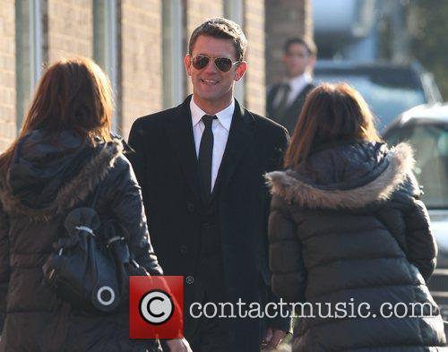 Scott Maslen EastEnders actors leaving a church after...