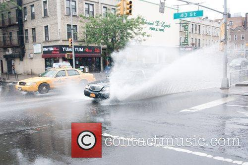 Streets in Queens flooded after hurricane Irene Most...