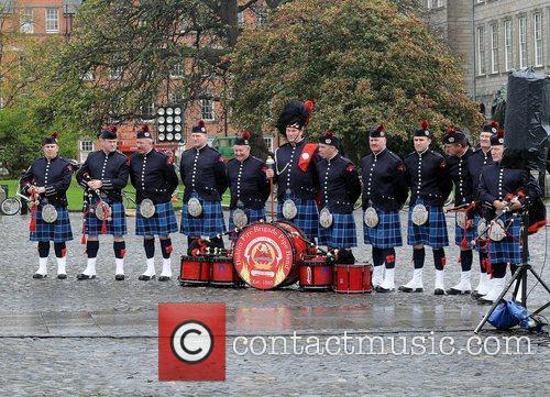 Dublin Fire Brigade Band participating in the scene...