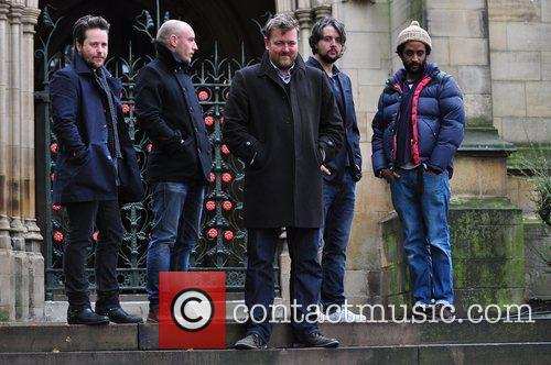 elbow outside manchester cathedral where they will 3579328
