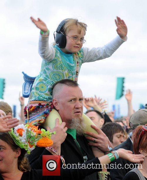 Fans watching Jimmy Cliff  Electric Picnic 2011...
