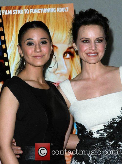 Emmanuelle Chriqui and Carla Gugino Los Angeles special...