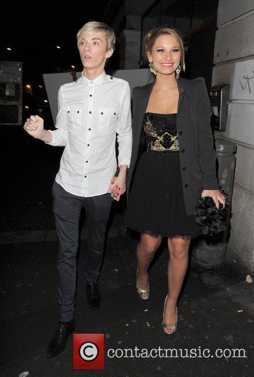 Harry Derbidge and Samantha Faiers leaving Shoreditch House,...