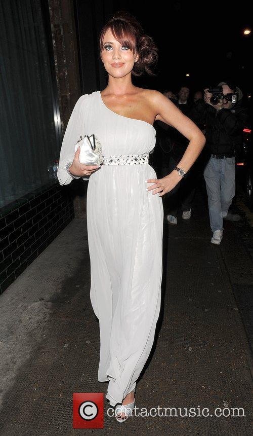 Amy Childs leaving Shoreditch House, where she had...