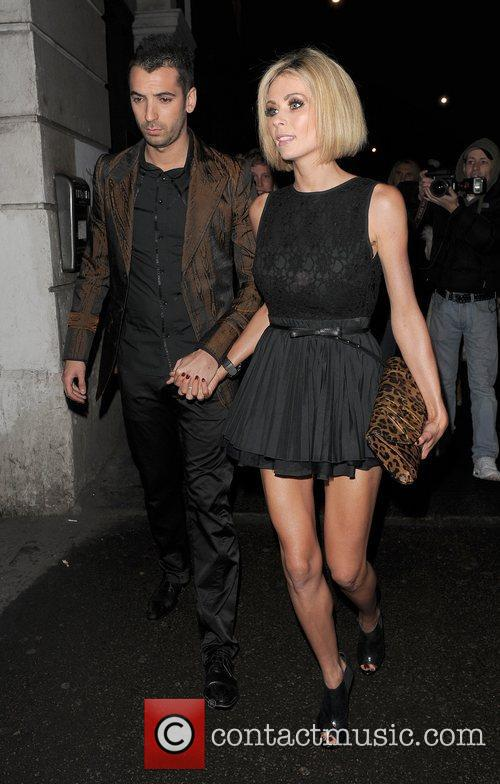 Nicola McLean and her husband Tom Williams leaving...