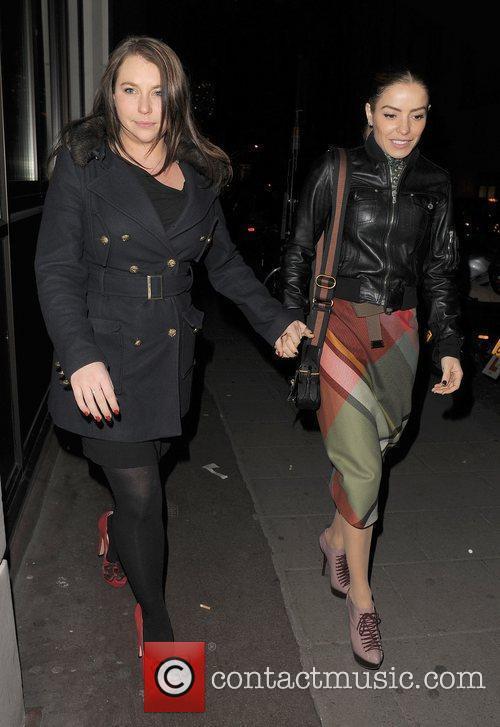 Elen Rivas leaving the May Fair hotel. London,...