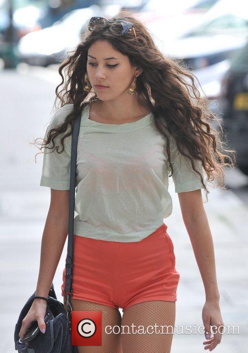 Eliza Doolittle  walking in Primrose Hill London,...