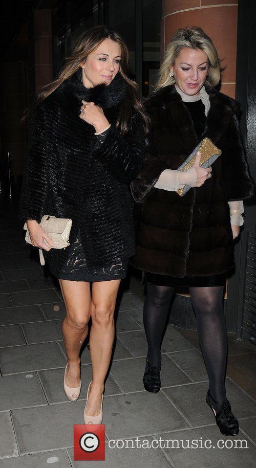 Elizabeth Hurley ,  leaving C London restaurant...